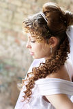 Curly bride Stock Photo