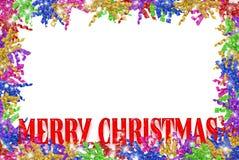 Curly Christmas ribbon border Stock Photography