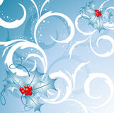 Curly Christmas Vector Royalty Free Stock Images