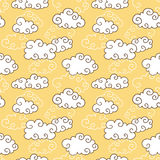 Curly clouds pattern Stock Photography