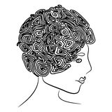 Curly coiffure Royalty Free Stock Images