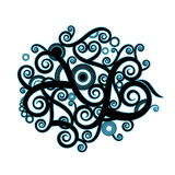 Curly color texture illustration Royalty Free Stock Image