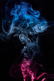 Curly coloured smoke Royalty Free Stock Image