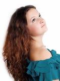 Curly cute brunette Stock Photos