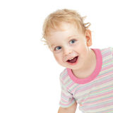 Curly cute child playing hide and seek Stock Images
