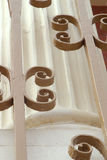 Curly Decoration. A detail of a historic building royalty free stock photography