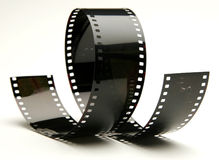 Curly film Royalty Free Stock Images