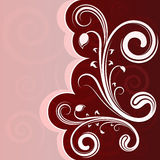 Curly flower shape card. Royalty Free Stock Photography