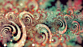 Curly Fractal. A curly linier fractal with tilt shift effect and bokeh Stock Photography