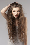 Curly fresh girl Stock Images