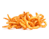 Curly fries, straight Royalty Free Stock Images