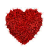 Curly fur heart. Fluffy heart 3d object, isolated on white background royalty free illustration