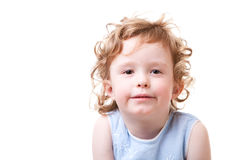 Curly girl Stock Images