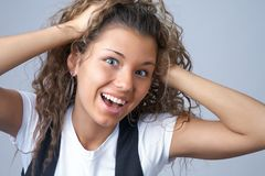 Curly girl Stock Image