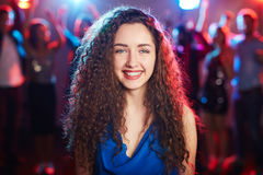 Curly girl with toothy smile Stock Photography