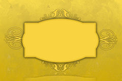 Curly golden frame for a signature or other text Royalty Free Stock Images
