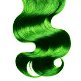Curly green hair over white Royalty Free Stock Image