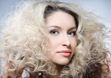 Curly hair Royalty Free Stock Photo