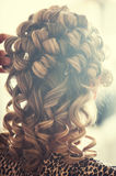 Curly hair Stock Image