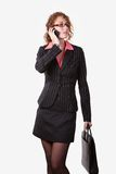 Curly hair business woman Stock Image