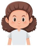 A curly hair female character. Illustration vector illustration