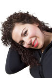 Curly Hair Lady Stock Image