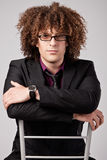 Curly hair man Royalty Free Stock Photography