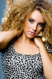 Curly Hair Model Stock Images