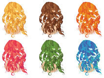Curly Hair Styles Royalty Free Stock Photos