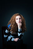 Curly hair teenager Stock Photography