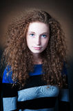 Curly hair teenager Royalty Free Stock Image
