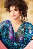 Curly hair woman Stock Photo