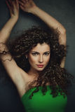 Curly hair woman Royalty Free Stock Photo