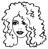 Curly hair woman Royalty Free Stock Photos