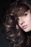 Curly hair Stock Images
