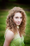 Curly haired beauty Stock Image