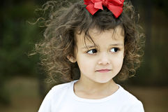 Curly Haired Girl Stock Photos