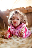 Curly Haired Girl Stock Photo