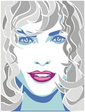 Curly-haired woman Royalty Free Stock Images