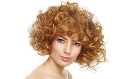 Curly hairstyle Stock Photos