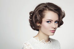Curly hairstyle Royalty Free Stock Images