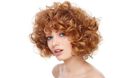 Curly hairstyle Royalty Free Stock Image