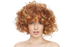 Curly hairstyle Royalty Free Stock Photography