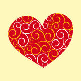 Curly heart Royalty Free Stock Photography