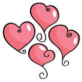 Curly heart collection Royalty Free Stock Photo