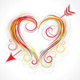 Curly heart illustration Stock Photos