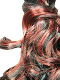Curly highlight hair texture background Stock Image