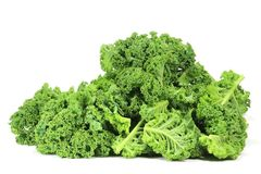 Curly kale. Isolated on white background Stock Image