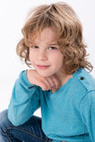 Curly  kid Stock Image