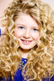 Curly kid royalty free stock photo